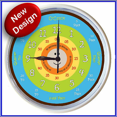 Learn to tell time What the Time Clock RETRO 25cm