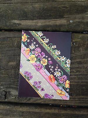 Unused Set of 8 Floral Bright and Lively Herlitz Vintage Greeting Cards - blank