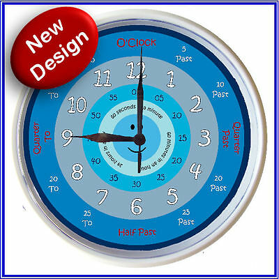 Learn to tell time What the Time Clock BLUE BOYS 25cm