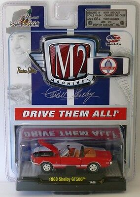 1968 Shelby Mustang GT350 Covertible RED 1:64 Scale M2 Diecast Detroit Muscle