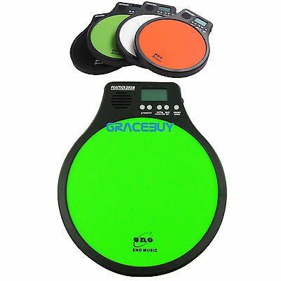 3 in 1 Electric Practice Digital Drum Pad With Metronome Speed Inspection New