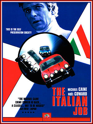 Italian job movie poster art print A3 OR A2