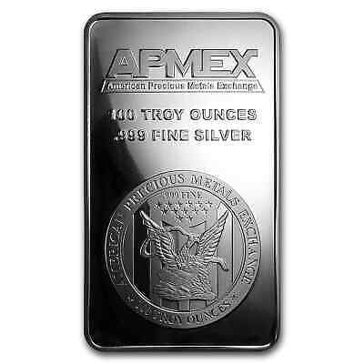 100 oz Silver Bar - APMEX (Struck) - SKU #73165