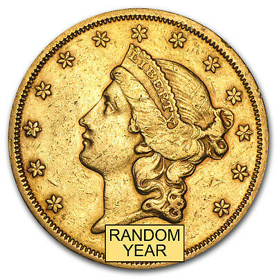 $20 Liberty Gold Double Eagle Coin - Random Year - Type 2 - Extra Fine