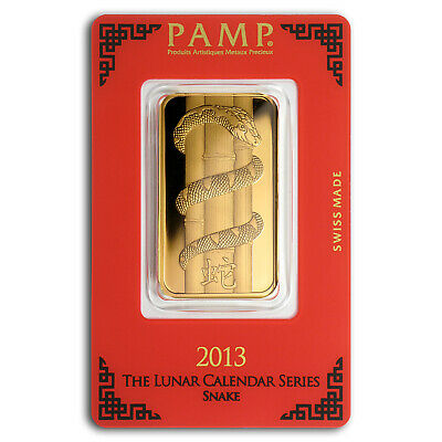 1 oz Gold Bar - PAMP Suisse Year of the Snake (In Assay) - SKU #83229