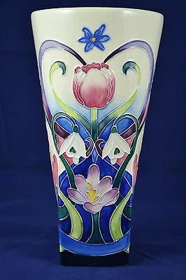 Old Tupton Ware 25cm Tubelined Vase- Spring Bouquet Design - NEW BOXED