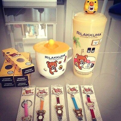 Rilakkuma Coffee Tea Vacuum Thermal Warm Travel Mug Cup Bottle LIMITED SET