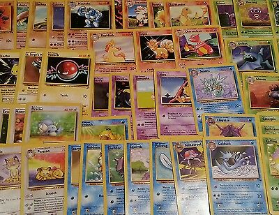 Lot of 75 different ORIGINAL 151 Pokemon Cards PLUS 7 Holos and Rares *LOOK*