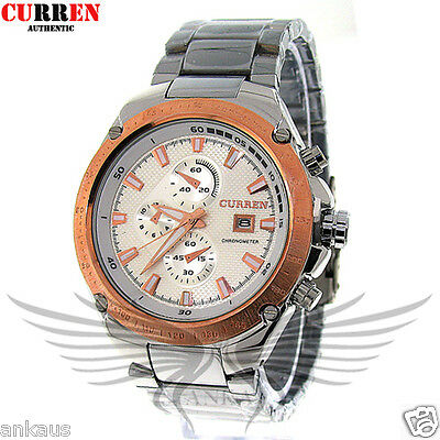 Elegant and Sporty Curren Water Resistant Men's Quartz Wristwatch WCurren8042