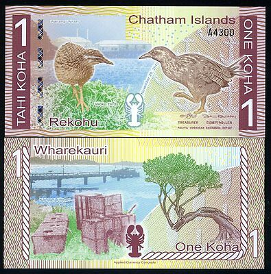 Chatham Islands, 1 Koha, 2013 (2014), Polymer, UNC
