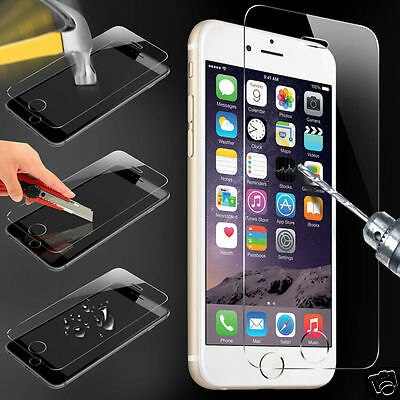 100%  Real Tempered Glass Film Screen Protector for Apple iPhone 6 New -OFFER