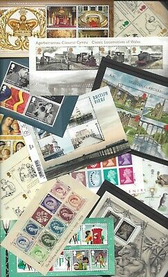 GB MINIATURE SHEET 1978 to 2003 MULTIPLE LISTING PICK FROM DROP DOWN LIST