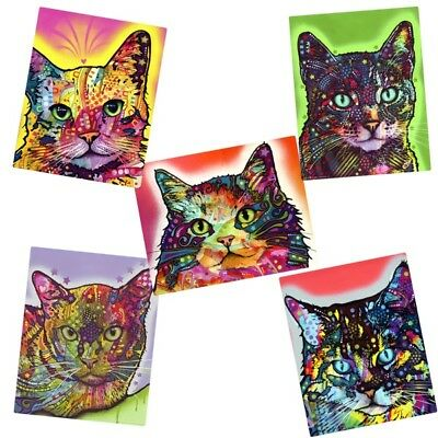 Pop Art Cats Dean Russo Vinyl Sticker Set Laptop Bumper Luggage Decal
