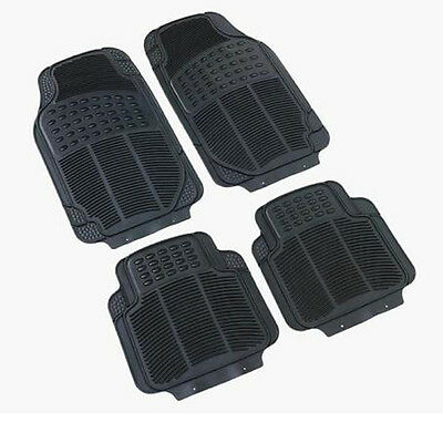 Mazda Universal Rubber  PVC Car Mats Heavy Duty 4pcs None Smell & Slip