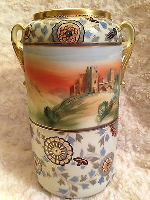 Vintage ~  Hand Painted NIPPON ~  Double Handle