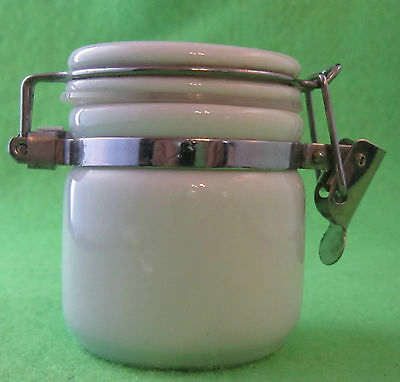 Small Earthen Ware Pepper Pot, Jam Jar, Relish Jar with Boxer Puppy on Lid