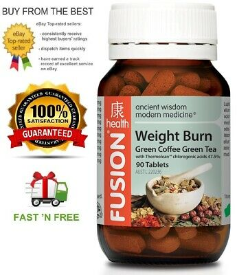 Fusion Health - Weight Burn 90T - Green Coffee Bean & More + Free Shipping