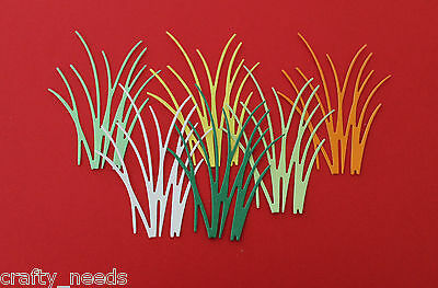 10PC  - GRASS Paper DIE cuts Scrapbooking - NOT a DIE