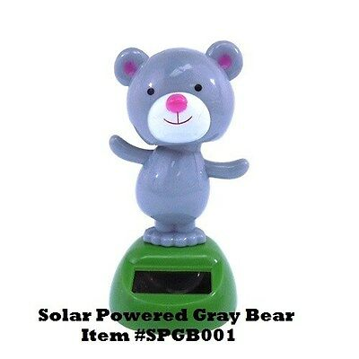 Solar Dancing GRAY BEAR* NEW also available Easter Bunny, Monkey, Bear, Pig,+