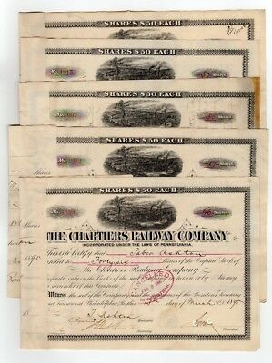 Lot of 5 - The Chartiers Railway Company