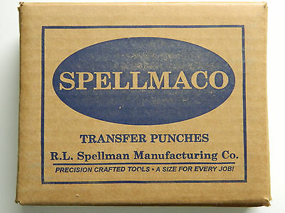 "28 Piece Transfer Punch Set Punches 3/32"" to 1/2"" & 17/32"", USA, Spellmaco 317"