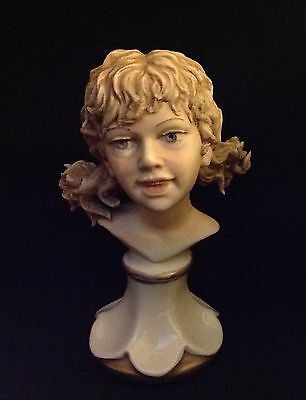 Vintage Sandro Maggioni Capodimonte Italy Young Girl Bust Signed-Nice!!!