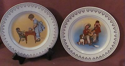 """Norman Rockwell """"Magic Moments of Childhood"""" Collectible Plates--#1&2 -- 1981"""