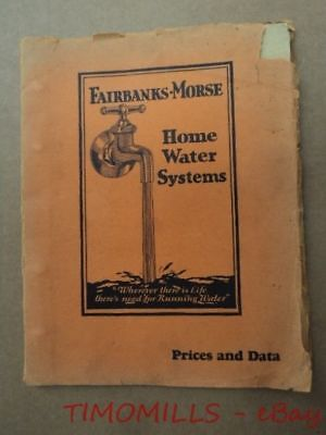 1930 Fairbanks Morse Home Water Systems Dealer Catalog Binder Z Engine Typhoon