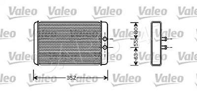 VALEO Heater Core Radiator Fits CITROEN Relay Jumper FIAT Ducato PEUGEOT 1994-