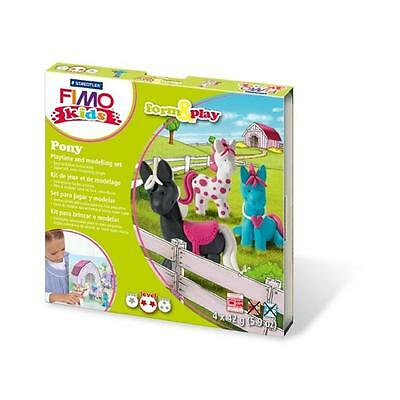 Fimo Kits For Kids Form & Play Polymer Modelling Oven Bake Clay - SET PONY