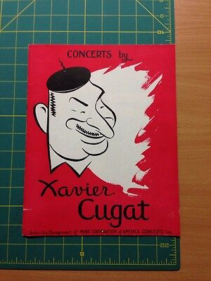 Concerts By Xavier Cugat Program