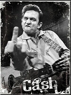 Johnny Cash Finger metal fridge magnet (na)
