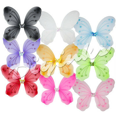 """22"""" x 15"""" Fairy Wings - Tinker Bell Butterfly Dress Up Halloween Costume"""