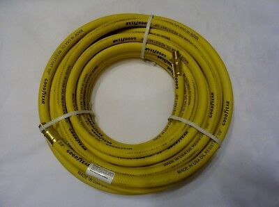 "Good Year 25' x 3/8"" 250 PSI Rubber Air Compressor Hose Goodyear USA Made 12182"