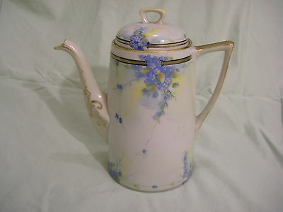 ANTIQUE HAND PAINTED COCOA POT - NIPPON