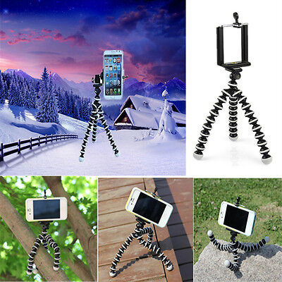 Generic Mini Flexible Tripod Stand Mount Holder Pod for Cell Phone Outdoor Bike