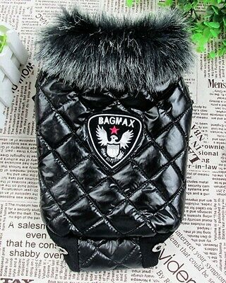 Winter Warm Small Dog Pet Waterproof Waistcoat Apparel Clothes Outfit L Size