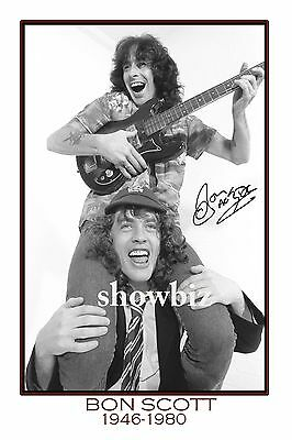 * BON SCOTT * Large signed poster of AC/DC star! Perfect memorabilia or gift!