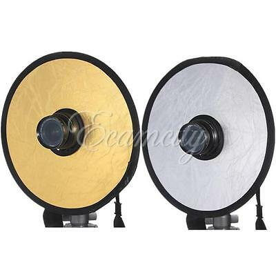 """12"""" 30cm 2in1 Photography Photo Reflector Light Mulit Collapsible Disc Reflector"""