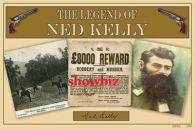 Ned Kelly Ltd Ed Signed Poster Print - Great Collectable - Australian History