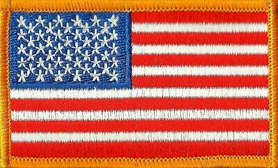 USA American FLAG PATCH Embroidered sew OR iron on jacket hat HEROS PRIDE 0003HP