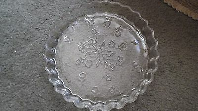 Oven-Proof  clear glass baking dish  with flowers