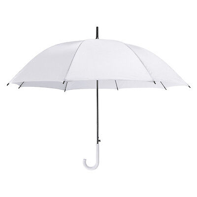 White Wedding Umbrella - Large Brides Crook Handle BRIDESMAIDS Automatic