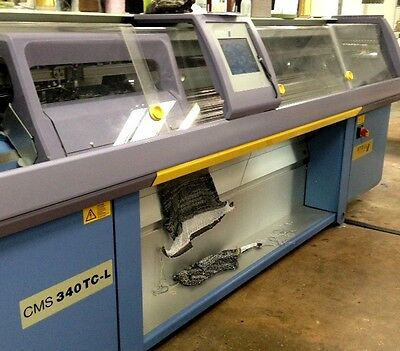 4 Stoll Knitting Machines - Cms 330 Tc, Cms 340 Tc-L Good Condition - Working