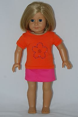 """Doll Clothes - Skirt & Tee Shirt, fits 18"""" American Girl Dolls, Handmade in USA"""