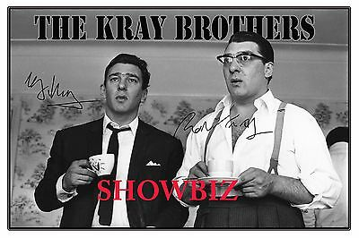The Kray Twins Signed Autograph Photo Poster Print-Great Piece Of Memorabilia