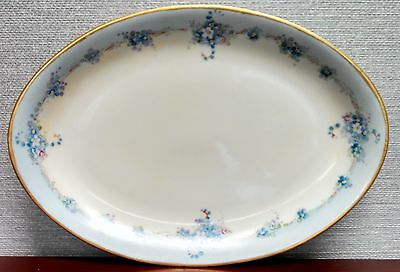 Large Vintage Antique PM Silesia German porcelain dish plate hand painted