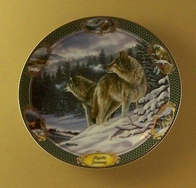 Monarchs of the Wild MYSTIC JOURNEY Plate Eagle Bison Cougar Deer Wolf #2 + COA