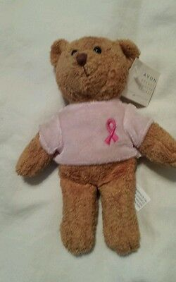 AVON Breast Cancer Brown Bear with tags 2001 Collectible plush