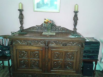 Antique Oak Sideboards - 70 years old with matching chairs